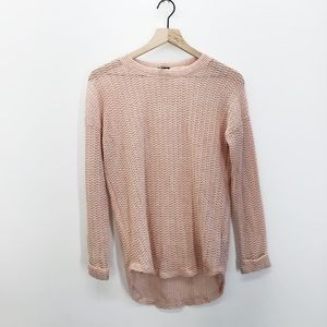 UO Sparkle & Fade Pink Knit Sweater